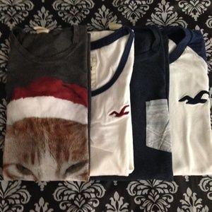Hollister Men's T-Shirts Bundle of 4, Size M & L